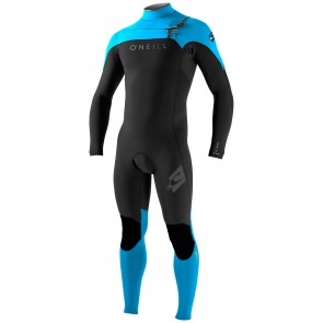 O'Neill HyperFreak 2mm Wetsuit - Black/Sky/Graphite