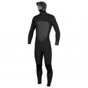 O'Neill SuperFreak 5/4 Hooded Chest Zip Wetsuit - Black