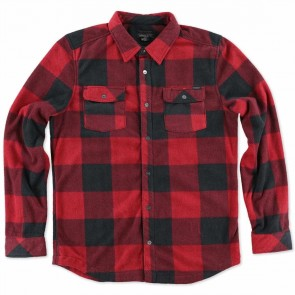 O'Neill Superfleece Glacier Check Flannel - Red