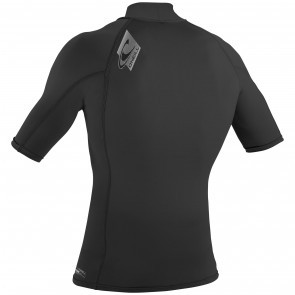 O'Neill Skins Short Sleeve Turtleneck Rash Guard - Black