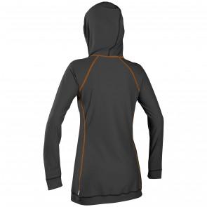 O'Neill Women's 24/7 Full Zip Long Sleeve Cover Up - Graphite/Papaya