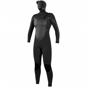O'Neill Women's Psycho Tech 6/4 Hooded Wetsuit - Black