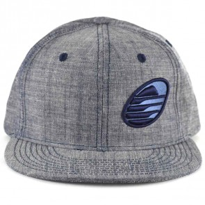 Cleanline Embroidered Rock Flat-Bill Snap Hat - Denim