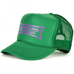 Cleanline Longboard Mesh Hat - Kelly Green/Purple