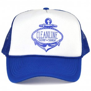 Cleanline Anchor Trucker Hat - Royal/White