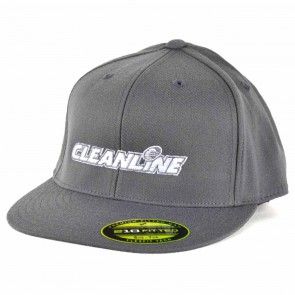 Cleanline Embroidered Corp Logo Hat - Grey/White