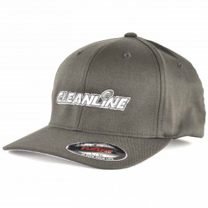 Cleanline Embroidered Corp Logo Hat - Dark Grey/Silver