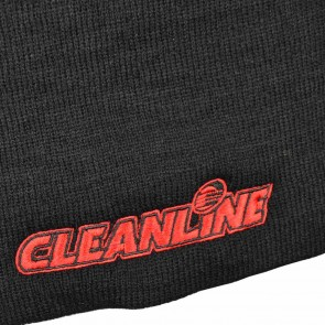 Cleanline Corp Logo Short Beanie - Black/Red