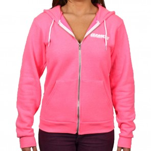 Cleanline Women's Corp Logo/Big Rock Hoodie - Neon Pink