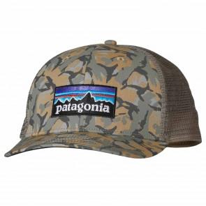 Patagonia P-6 Trucker Hat - Fish Camo/Classic Tan