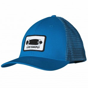 Patagonia Live Simple Skate Trucker Hat - Andes Blue