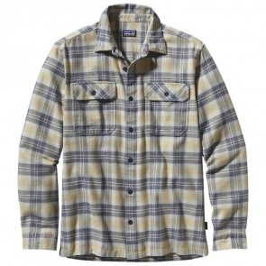 Patagonia Fjord Long Sleeve Flannel - Big Haircutter Bleached Stone