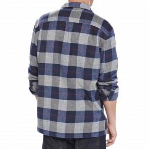 Patagonia Fjord Long Sleeve Flannel - Hayburner Classic Navy