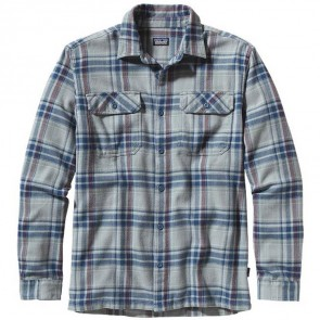 Patagonia Fjord Long Sleeve Flannel - Saucer Pass Feather Grey