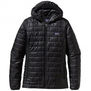 Patagonia Women's Nano Puff Hooded Jacket - Black
