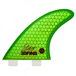 3D Fins - XDS Hex Core Tri 7.0 Twin Tab - Green
