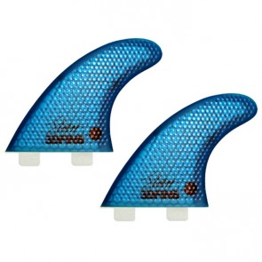 3D Fins - XDS Hex Core Quad Twin Tab - Blue