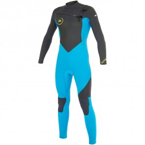 Quiksilver Youth Syncro 4/3 Chest Zip Wetsuit - Graphite/Cyan