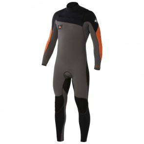 Quiksilver Ignite 4/3 Chest Zip Wetsuit - Graphite/Orange