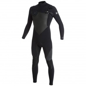Quiksilver Syncro LFS 3/2 Chest Zip Wetsuit - Black/Graphite