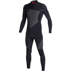 Quiksilver Syncro LFS 4/3 Back Zip Wetsuit - Black/Graphite