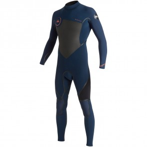Quiksilver Syncro LFS 4/3 Back Zip Wetsuit - Ink Blue/Black