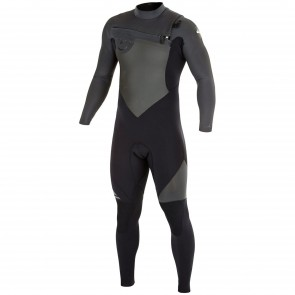 Quiksilver Syncro 4/3 Chest Zip Wetsuit - Black/Graphite