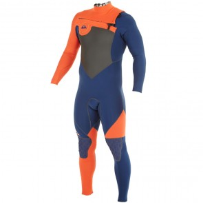 Quiksilver AG47 Performance 4/3 Chest Zip Wetsuit - Ink Blue/Orange