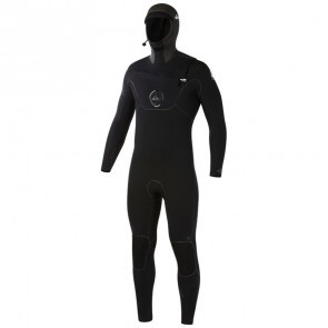 Quiksilver Cypher 5/4/3 Hooded Chest Zip Wetsuit - Black