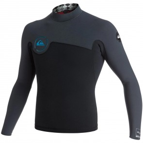 Quiksilver Wetsuits AG47 Performance 2mm Jacket - Black/Graphite/Cyan