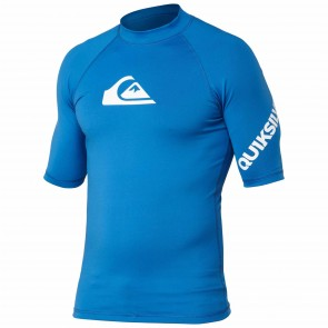 Quiksilver Wetsuits All Time Short Sleeve Rash Guard - Snorkel Blue
