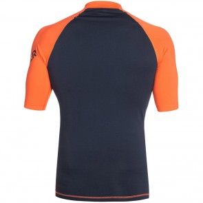 Quiksilver Wetsuits All Time Short Sleeve Rash Guard - Blue/Orange