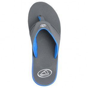 Reef Fanning Sandals - Aqua/Grey