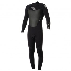 Rip Curl Dawn Patrol 3/2 Back Zip Wetsuit - Black