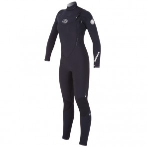 Rip Curl Women's Flash Bomb 4/3 Chest Zip Wetsuit - Black