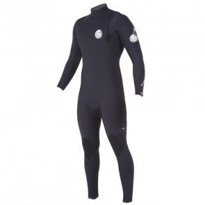 Rip Curl Flash Bomb 4/3 Zip Free Wetsuit - Black