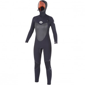Rip Cur Women's Flash Bomb 5/4 Hooded Wetsuit - Black