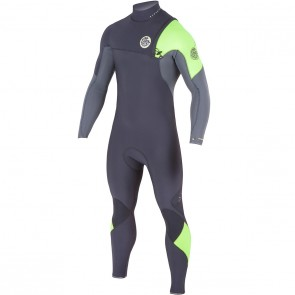 Rip Curl E-Bomb Pro 3/2 Zip Free Wetsuit - Lime