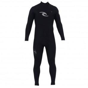 Rip Curl E-Bomb Pro 3/2 Chest Zip Wetsuit - Black