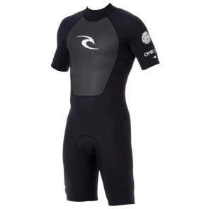 Rip Curl Omega 2mm Short Sleeve Spring Wetsuit - Black
