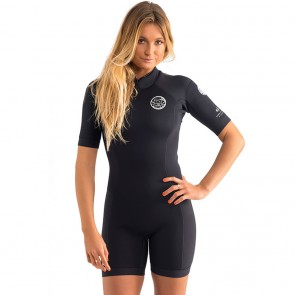 Rip Curl Women's Dawn Patrol Short Sleeve Spring Wetsuit - Black