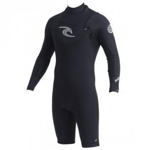 Rip Curl E-Bomb Pro Chest Zip L/S Spring Suit Wetsuit - Black