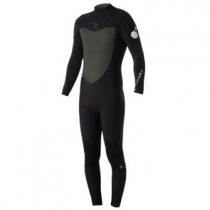 Rip Curl Flash Bomb 4/3 Back Zip Wetsuit - Black