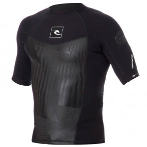 Rip Curl Wetsuits Dawn Patrol 1.5mm Short Sleeve Jacket - Black