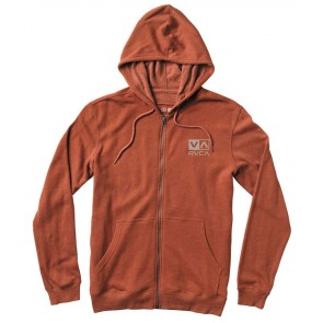RVCA Balance Box Zip Hoodie - Ketchup Heather