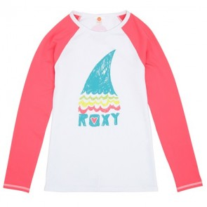 Roxy Wetsuits Youth Raglan Long Sleeve Rash Guard - Fandango Pink