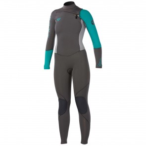 Roxy Women's Cypher 4/3 Wetsuit - Graphite/Green