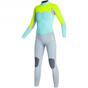 Roxy Women's XY 3/2 Back Zip Wetsuit - Lemon/Blue/Grey