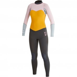 Roxy Women's XY 3/2 Back Zip Wetsuit - Pink/Orange/Black