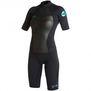 Roxy Women's Syncro 2mm Short Sleeve Spring Wetsuit - Black